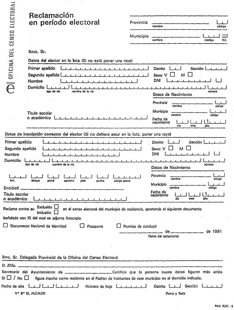 Documento boe a 1991 7552 for Oficina del censo electoral madrid