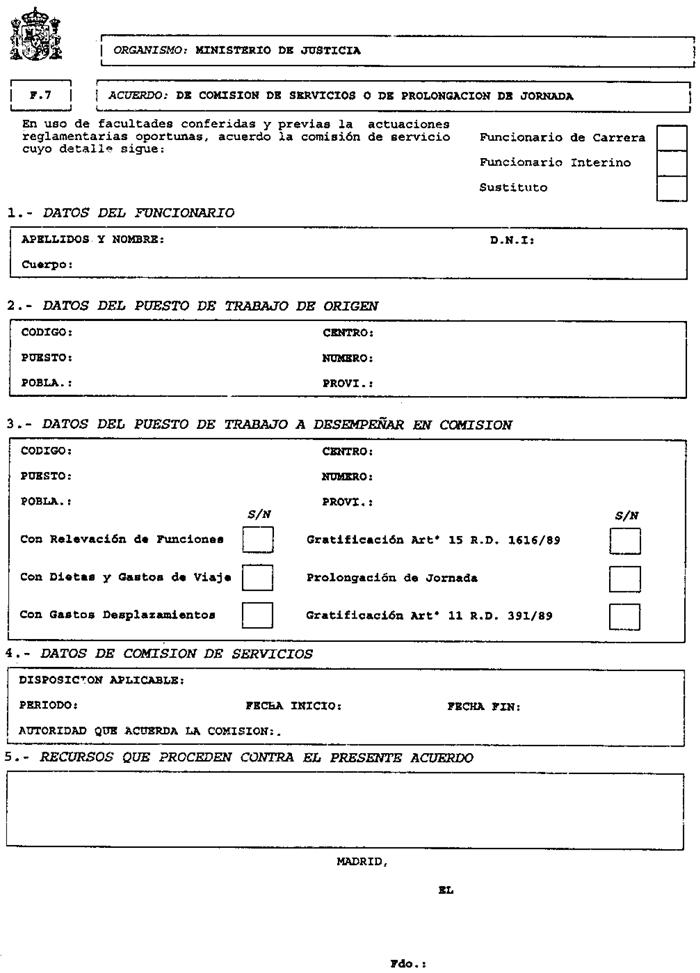 Documento consolidado boe a 1996 4027 for Nomina de funcionarios del ministerio del interior