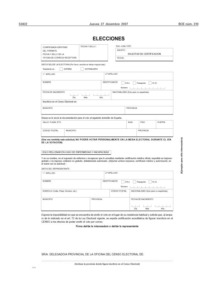 Documento boe a 2007 22299 for Oficina del censo electoral