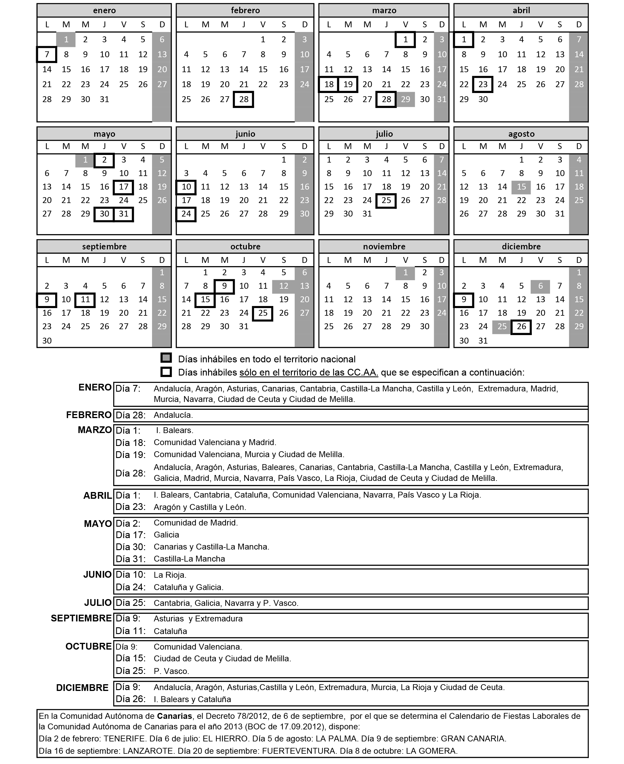 Boe Calendario.Boe Es Documento Boe A 2012 14453