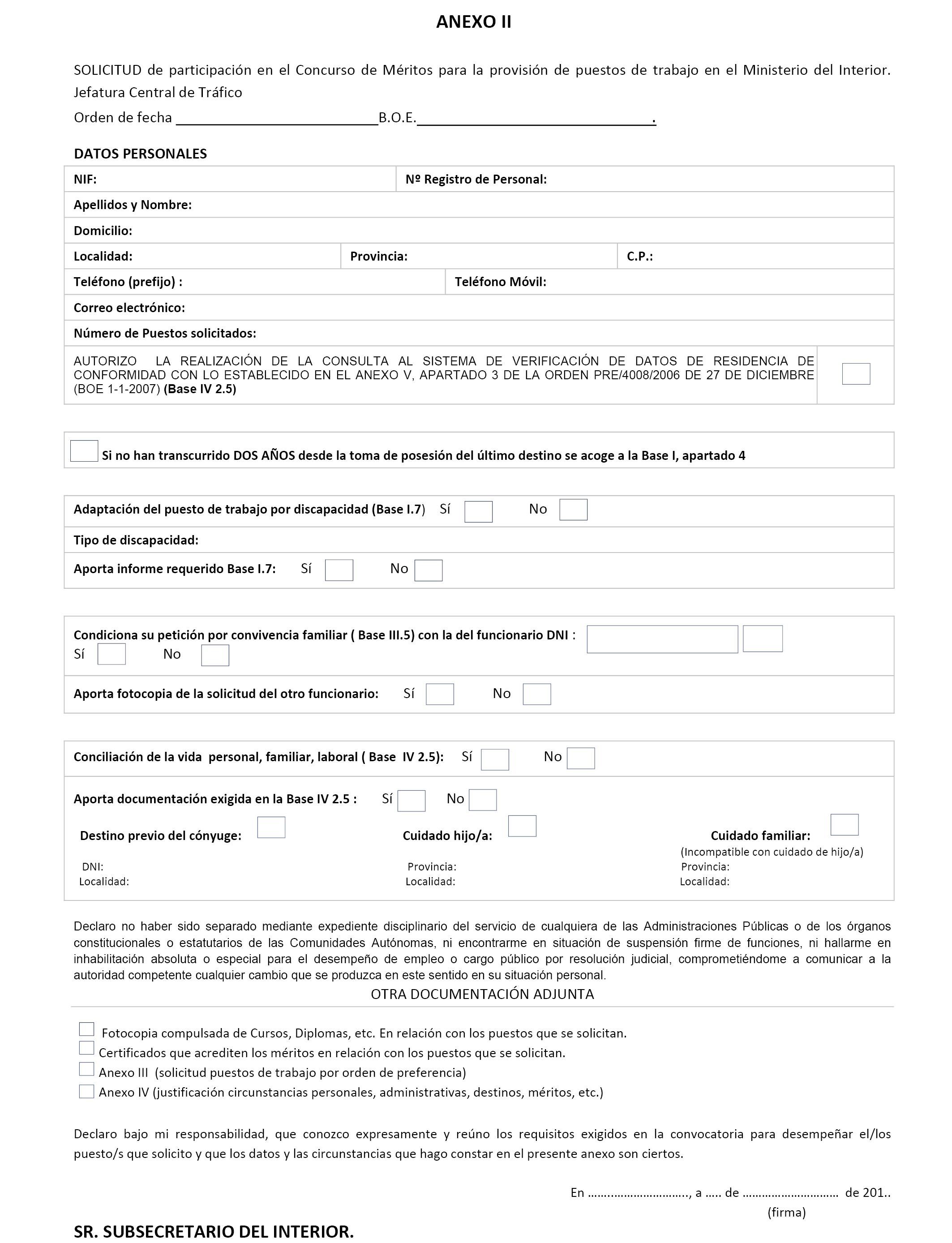 Ministerio del interior concurso 23 12 2016 for Boe ministerio del interior