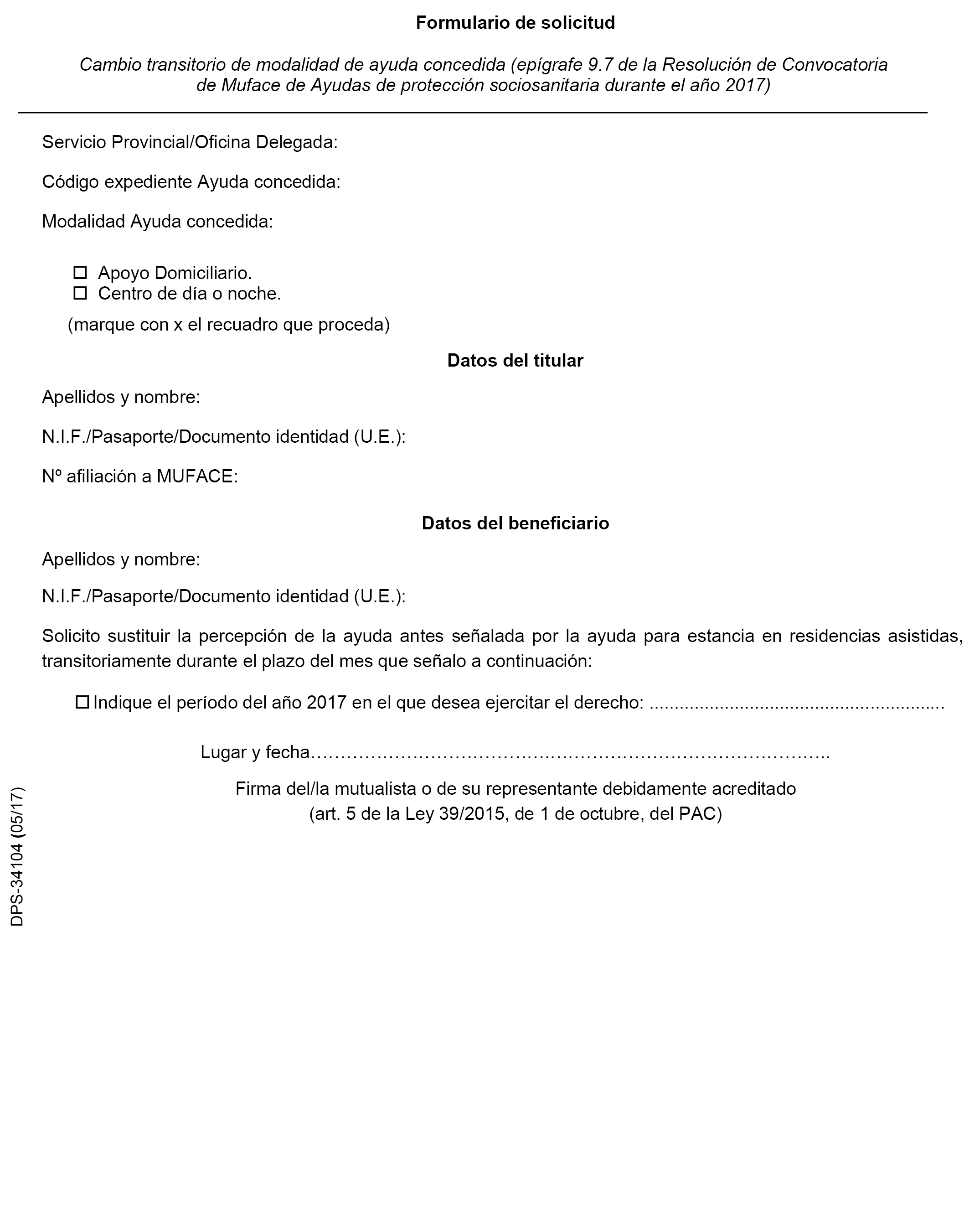 Documento boe a 2017 5721 for Oficina muface madrid