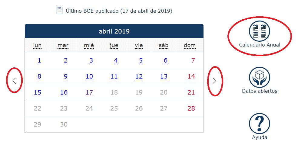 Boe Calendario.Boe Es